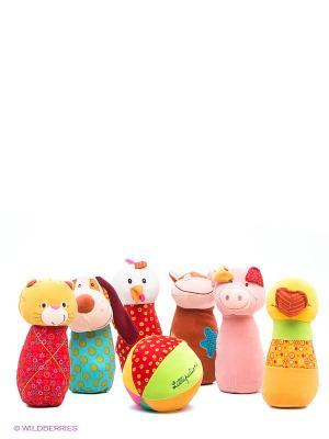 Набор мягких игрушек Боулинг Lilliputiens. Цвет: коричневый, желтый, белый