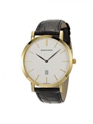 Часы TL5507CX Romanson. Цвет: черный, золотистый