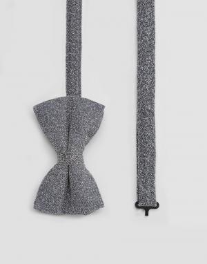 ASOS Блестящий серебристый галстук-бабочка Wedding. Цвет: серебряный