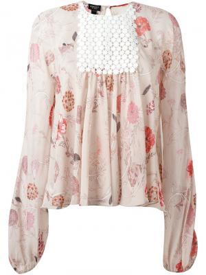 Блузка с цветочным принтом Giambattista Valli. Цвет: розовый и фиолетовый