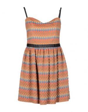 Короткое платье MILA SCHÖN CONCEPT. Цвет: верблюжий