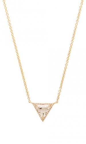 Ожерелье с белым топазом Sachi. Цвет: металлический золотой
