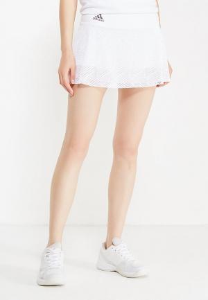 Юбка-шорты adidas Performance. Цвет: белый