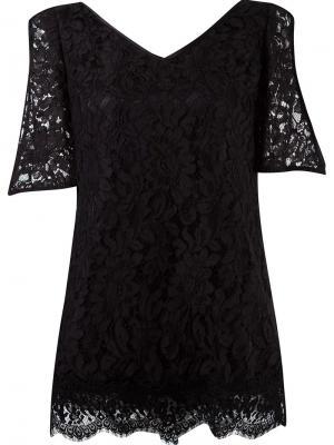 V-neck lace blouse Martha Medeiros. Цвет: чёрный