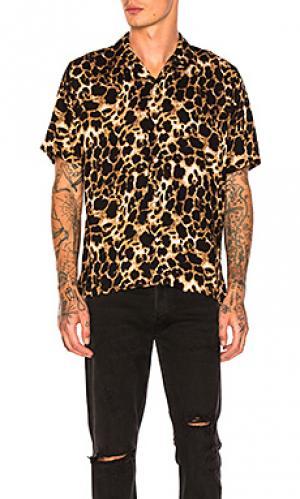 Рубашка camp Gitman Vintage. Цвет: коричневый
