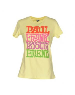 Футболка PAUL FRANK. Цвет: светло-желтый