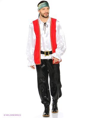 КАПИТАН ДЖЕККИ, Карнавальный костюм взрослый Волшебный мир. Цвет: красный