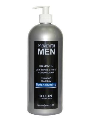 Шампунь для волос и тела освежающий 1000 мл Ollin Professional. Цвет: прозрачный