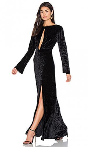 Бархатное макси платье grace AGAIN. Цвет: черный
