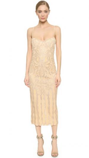 Вечернее платье Natalia Wes Gordon. Цвет: телесный/цвет слоновой кости