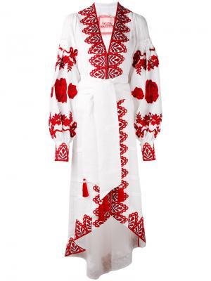 Платье Gzhel Yuliya Magdych. Цвет: белый