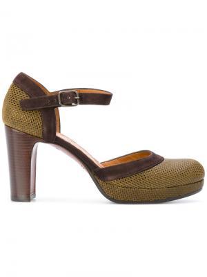 Классические туфли Chie Mihara. Цвет: зелёный