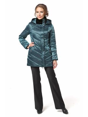 Стеганое пальто DizzyWay. Цвет: зеленый