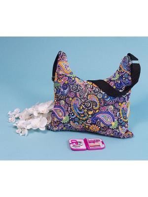 Набор для шитья и вышивания текстильная сумка Пейсли Матренин Посад. Цвет: розовый, бордовый, коричневый