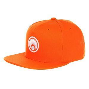 Бейсболка с прямым козырьком  Snap Back Hat Standard Orange/White Osiris. Цвет: оранжевый