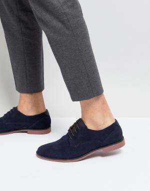 Burton Menswear Темно-синие туфли дерби. Цвет: темно-синий