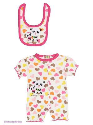 Комплект Kidly. Цвет: розовый, желтый, белый
