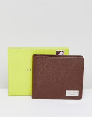 Ted Baker Кожаный бумажник с карманом для монет. Цвет: рыжий