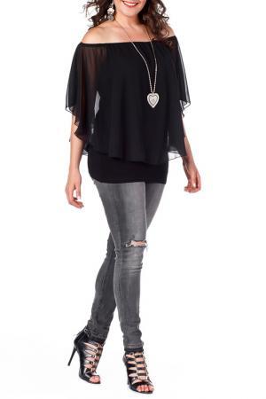 Блуза VALERIA FRATTA. Цвет: black