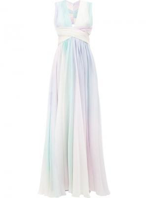 Платье с принтом радуги Zuhair Murad. Цвет: многоцветный