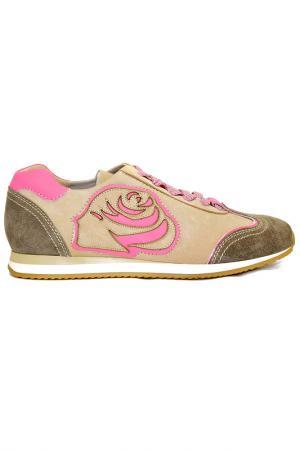 Кроссовки Fiorangelo. Цвет: розово-бежевый