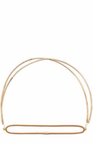 Повязка для волос со стразами Jennifer Behr. Цвет: золотой