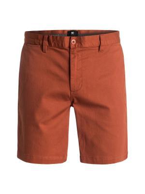 Бермуды DC Shoes. Цвет: коричневый, оранжевый