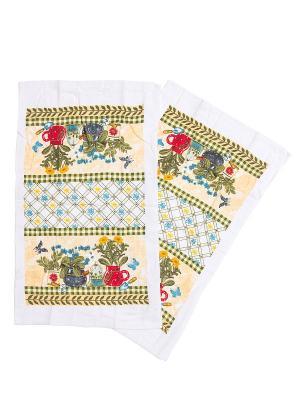 Комплект полотенец ZLATA KORUNKA. Цвет: оливковый