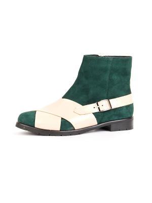 Ботинки RICCORONA. Цвет: зеленый, бежевый