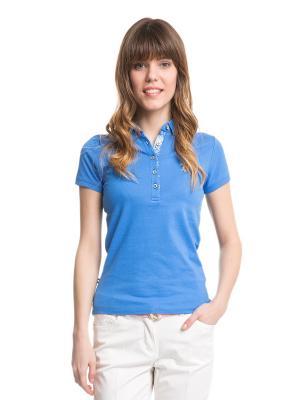 Футболка-поло U.S. Polo Assn.. Цвет: голубой, синий