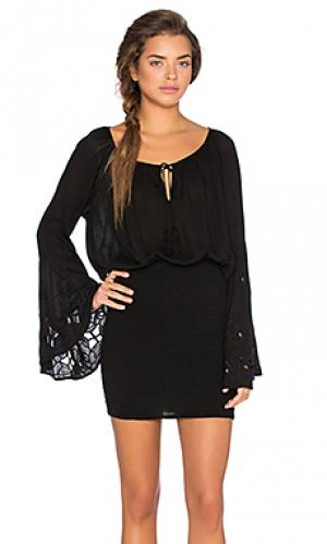 Мини платье woodstock AUGUSTE. Цвет: черный