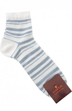 Хлопковые носки в полоску Gallo. Цвет: белый
