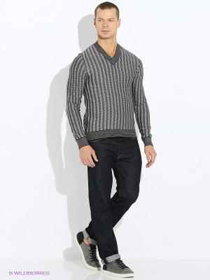 Пуловер JB casual. Цвет: серый