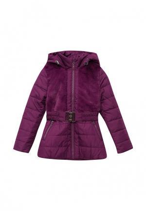 Куртка утепленная Fleur de Vie. Цвет: фиолетовый