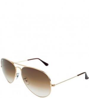 Очки-авиаторы в металлической оправе Ray Ban. Цвет: коричневый