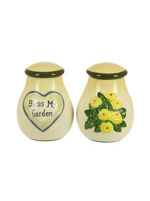 Солонка и перечница Свой садик XLSGAR075E Country Garden Blonder Home. Цвет: бежевый
