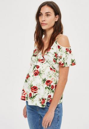 Блуза Topshop Maternity. Цвет: белый