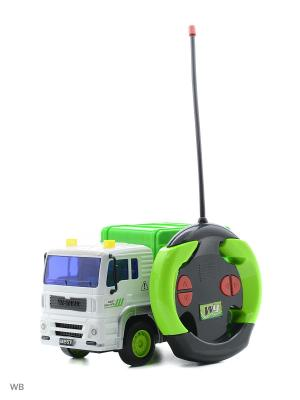 Машина р/у грузовик-мусоровоз Drift. Цвет: зеленый