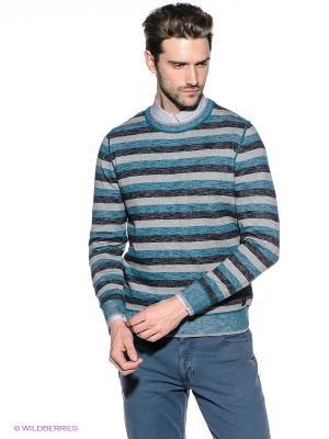 Джемпер S.OLIVER. Цвет: морская волна, серый, синий