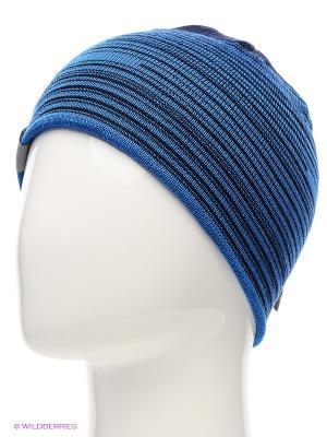 Вязаная шапка HUPPA. Цвет: синий