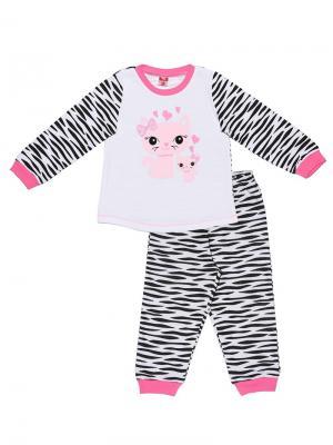 Пижама для девочки Cherubino. Цвет: белый