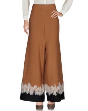 Повседневные брюки EYS. Цвет: верблюжий