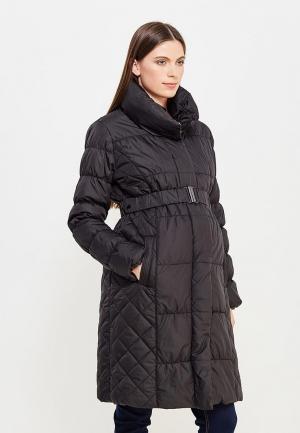 Куртка утепленная Mamalicious. Цвет: черный