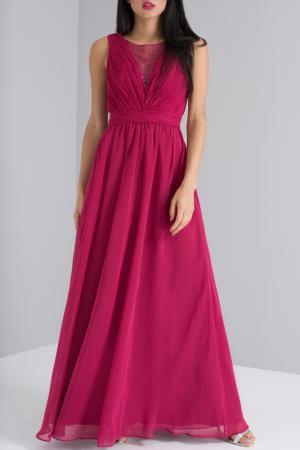 Платье CHI LONDON. Цвет: burgundy