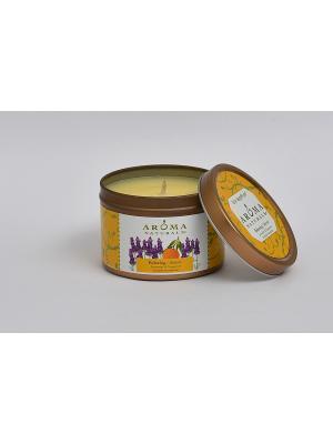 Соевые свечи Релакс, 80 гр Aroma Naturals. Цвет: светло-желтый