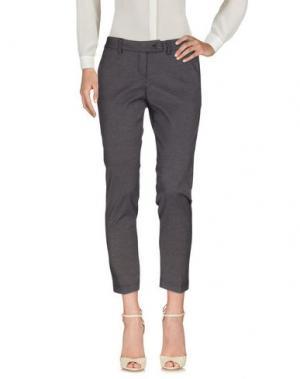 Повседневные брюки RISSKIO. Цвет: серый