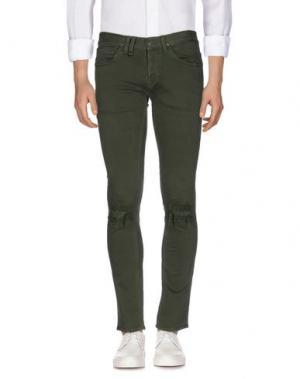 Джинсовые брюки CYCLE. Цвет: зеленый-милитари
