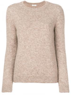 Классический трикотажный свитер Masscob. Цвет: телесный