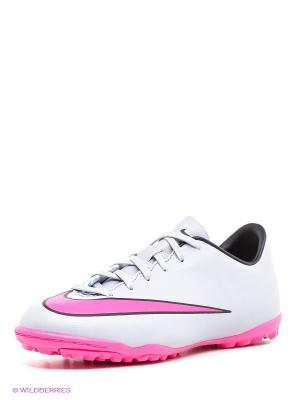 Шиповки JR MERCURIAL VICTORY V TF Nike. Цвет: серый, розовый