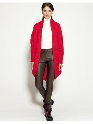 Кардиган LO. Цвет: красный